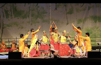 An Indian Folklore Group from Spandan Sanskrutik Trust, Ahmedabad participated in the 55th Jurjevanje Festival from 21 to 24 June 2018 at Črnomelj, Slovenia