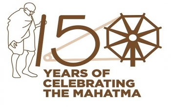 LED projection on 2 october 2018 marking the 150th Birth Anniversary of Mahatma Gandhi