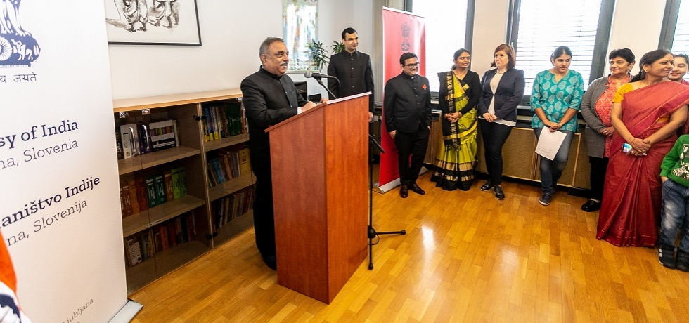 Ambassador Param Jit Mann read out President's address to the nation as the 70th Republic Day of India was celebrated in Ljubljana on 26th January 2019