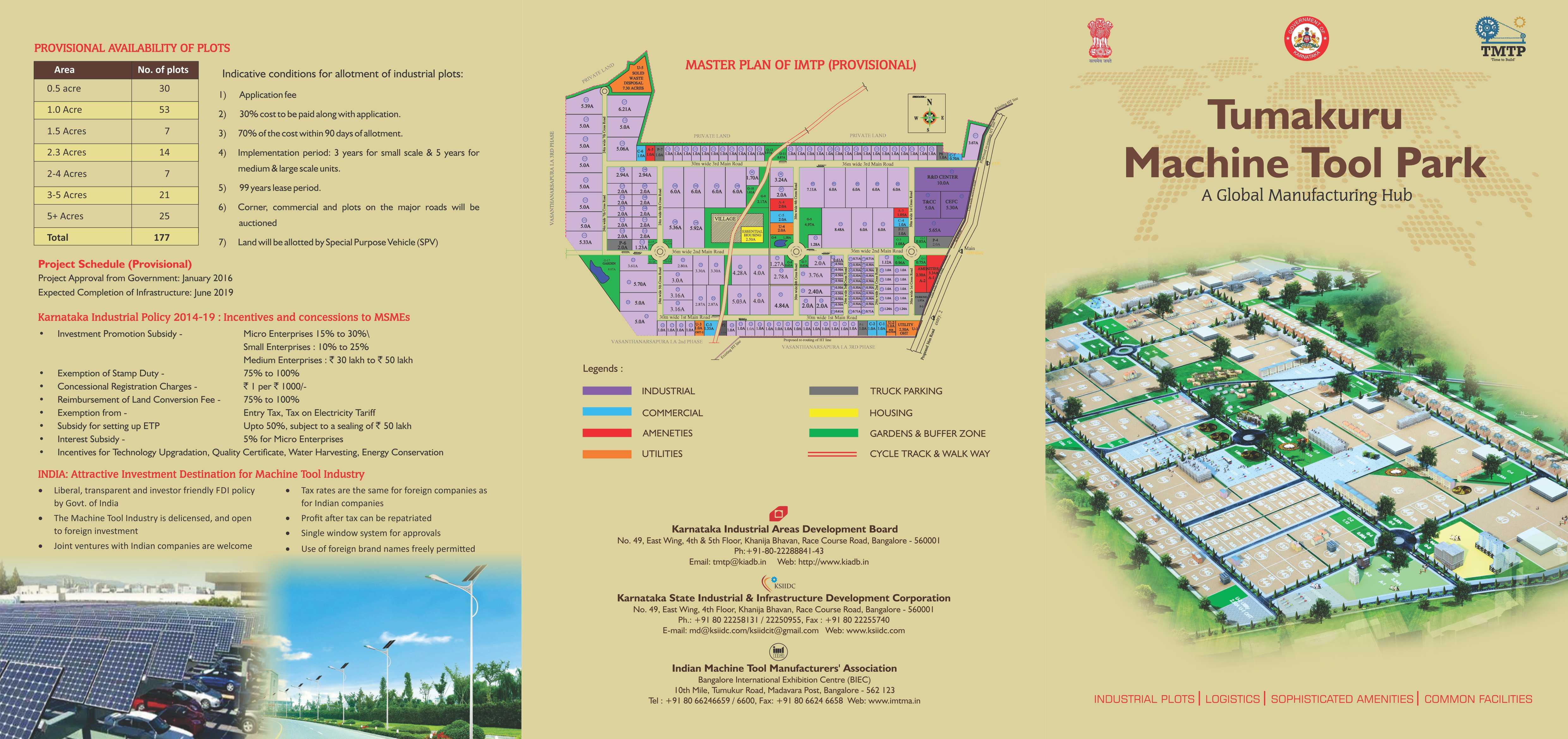 Integrated Machine Tool Park (IMTP), in Tumakuru, Karnataka