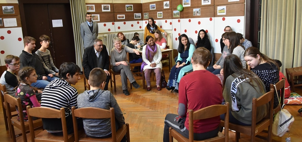 Ambassador visited the IRIS Centre for Education, Rehabilitation, Inclusion and Counselling for the Blind and Partially Sighted in Ljubljana and interacted with the students and the management