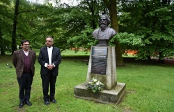 Ambassador paid tribute to Gurudev Rabindranath Tagore in Maribor