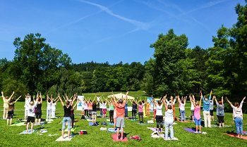 5th International Day of Yoga on 15 June 2019 at 12.15 hrs at Volčji Potok Arboretum