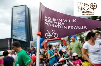 Vabilo k sodelovanju na otroškem kolesarskem maratonu Vzajemna kot del praznovanj ob 150. obletnici rojstva Mahatme Gandija