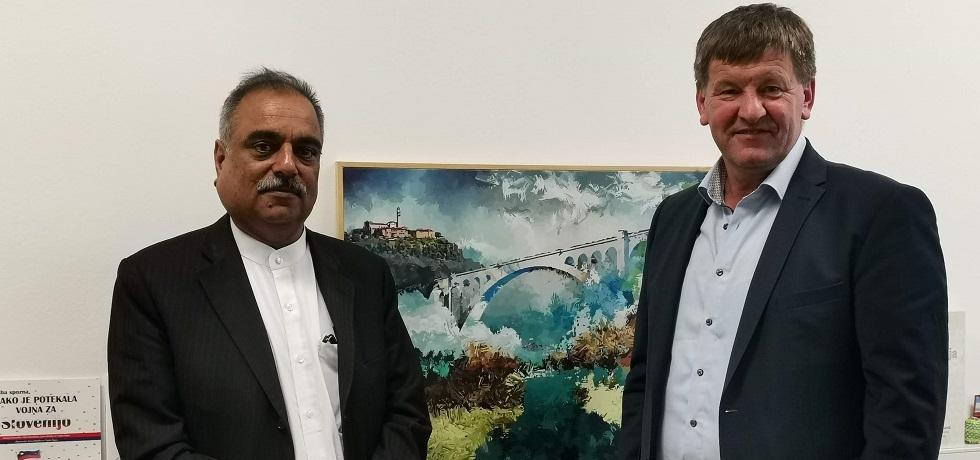 Ambassador paid a courtesy call on Mr. Franc Bogovič, MEP, in Ljubljana on 11 July 2019
