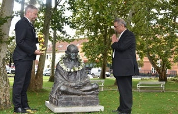 Celebration of 150th birth anniversary of Mahatma Gandhi in Slovenj Gradec