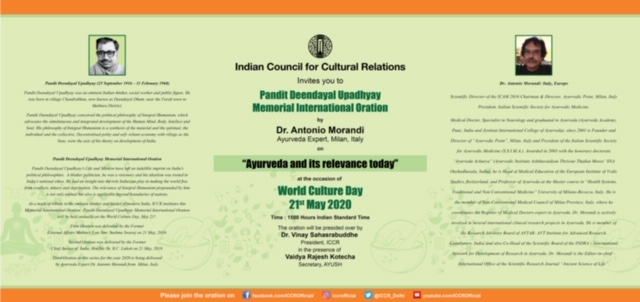 ICCR to celebrate World Culture Day on 21 May 2020
