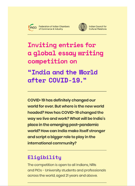 Global Essay Writing Competition: India and the World after Covid-19