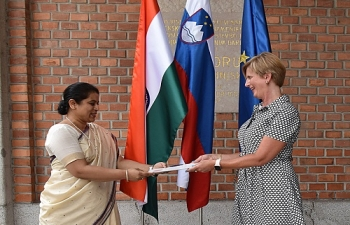 Presentation of Copy of Credentials to Head of Diplomatic Protocol of the Republic of Slovenia
