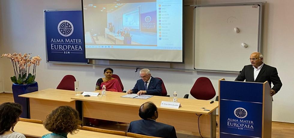 On 28 September, ICCR President and MP of Rajya Sabha Dr. Vinay Sahasrabuddhe delivered a lecture on