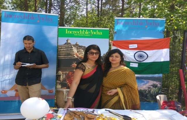 Indian stand at the International Day of the British International School in Ljubljana