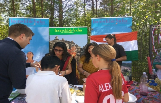 Indian stand at the International Day of the British International School in Ljubljana (25 April 2018)
