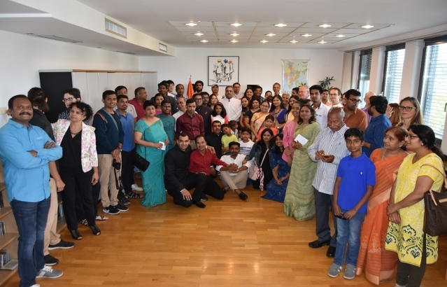 Embassy celebrated the Independence Day of India, on 15 August 2018