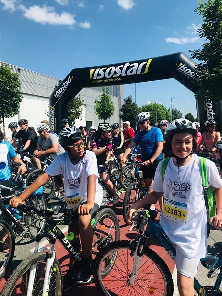 Embassy marks 150th birth anniversary of Mahatma Gandhi in the Vzajemna Kids' Cycling Marathon