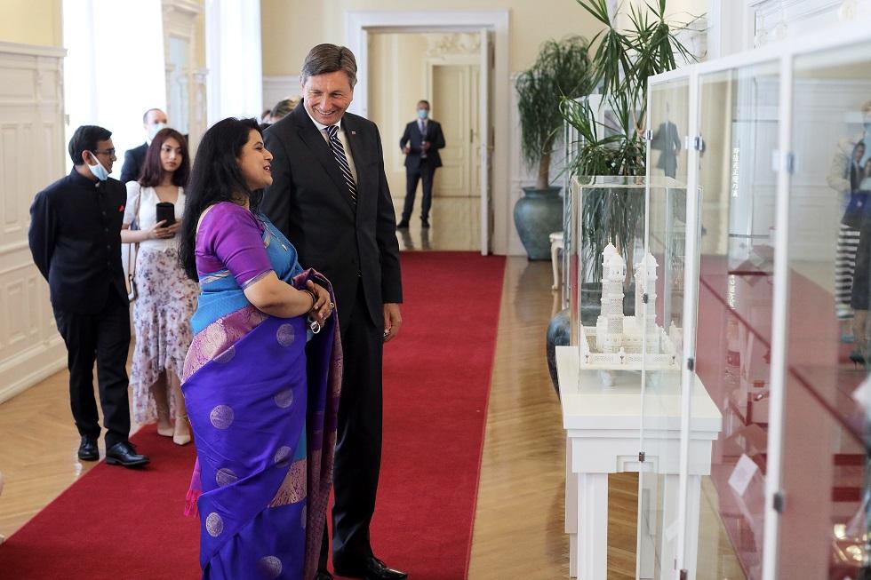 Presentation of Credentials by the Ambassador of India to the Republic of Slovenia Ms. Namrata S. Kumar to the President of the Republic of Slovenia Mr. Borut Pahor